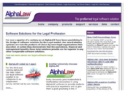 Alphalaw business website