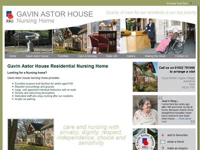Example Larger Charity Websites - Kent, UK - Gavin Astor House ...