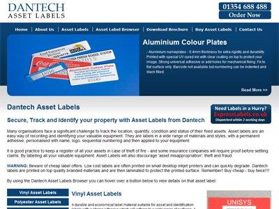 ID Asset Labels, Dantech