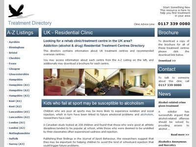 Addiction Clinics business website