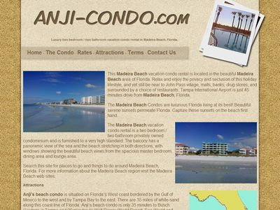 condo - holiday accommodation  website