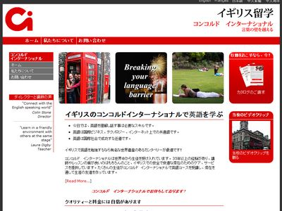 Japanese website desigbn for aircraft charter company