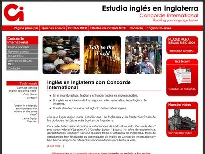 Spanish website for language school