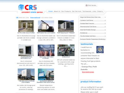 CRS Mobile Cold Storage