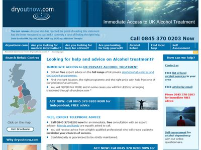 DryOutNow business website