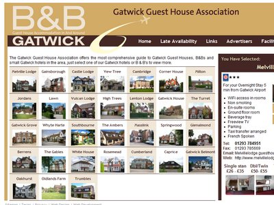Gatwick Guest House Association business website