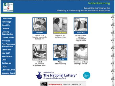 website design for ladder 4 learning website 2