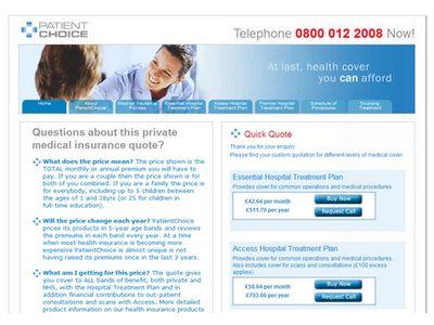 Patient choice insurance website