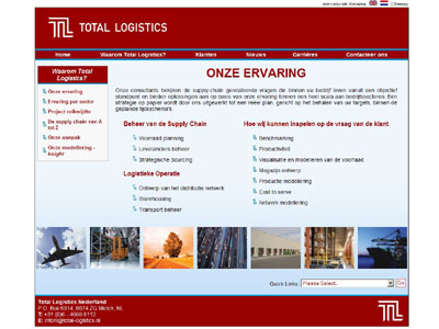 Dutch website desigbn for aircraft charter company