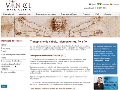 Brazilian Portuguese website desigbn for healthcare company
