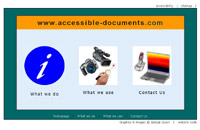Accessible documents website