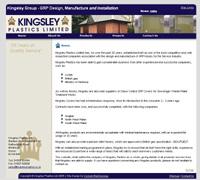 website design for Kingsley PLastics