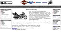 website design of motobike website