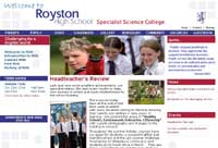 Royston school  website