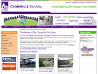 Canterbury scrutiny  website