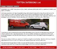 Totten Interiors business website