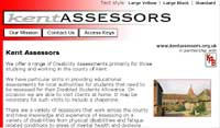 website design of Kent Assessors website