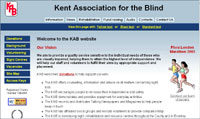 website design for Kent Association for the Blind website 2