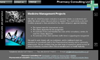 website design of Pharmacy Consulting website