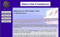 website design of the Eastbourne Rotary website