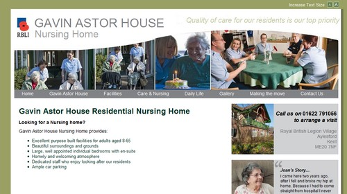 website for Nursing Home in kent