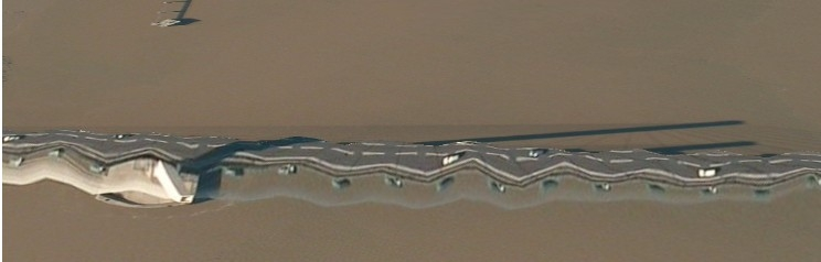 Dartford bridge on apple maps