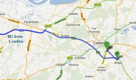 map to canterbury office