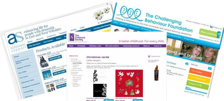 Charity Shop Websites