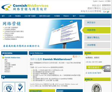 chinese website design