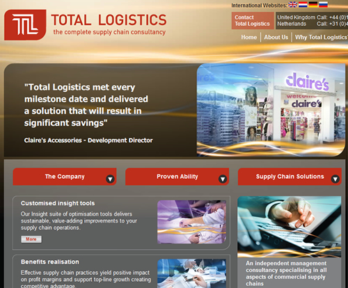Total Logistics  Search Engine Marketing: Website Design, SEO & PPC