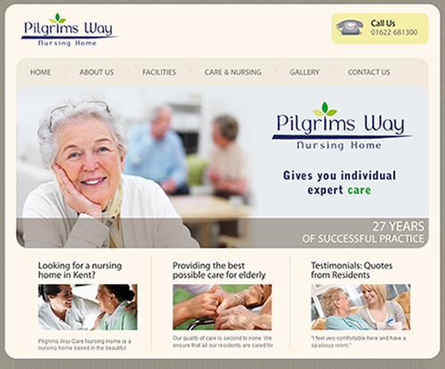 Pilgrims Way Nursing Home Search Engine Marketing Website Design