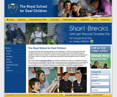 example school websites