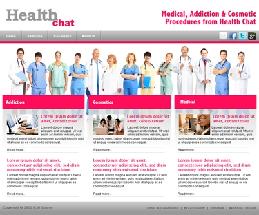 healthcare website designs