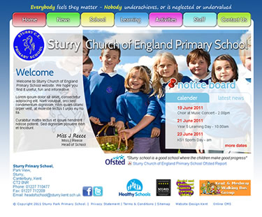 Sturry school  website
