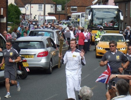 Olympic Torch through Sturry