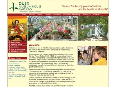 quex museum website design